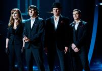 NOW YOU SEE ME, l-r: Isla Fisher, Jesse Eisenberg, Woody Harrelson, Dave Franco, 2013, ph: Barry Wetcher/©Summit Entertainment