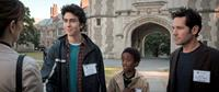 ADMISSION, back, from left: Nat Wolff, Travaris Spears, Paul Rudd, 2013. ph: David Lee/©Focus Features