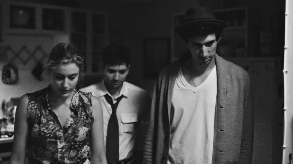 FRANCES HA, from left: Greta Gerwig, Michael Zegen, Adam Driver, 2012. ©IFC Films