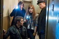 NOW YOU SEE ME, from left: Dave Franco (front), Jesse Eisenberg, Isla Fisher, Woody Harrelson, 2013, ph: Barry Wetcher/©Summit Entertainment