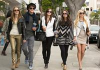 THE BLING RING, from left: Taissa Farmiga, Israel Broussard, Emma Watson, Katie Chang, Claire Julien, 2013. ph: Merrick Morton/©A24