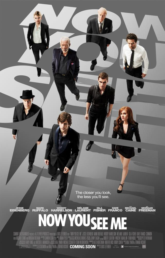 NOW YOU SEE ME, clockwise, from top left: Melanie Laurent, Michael Caine, Mark Ruffalo, Dave Franco, Isla Fisher, Jesse Eisenberg, Woody Harrelson, Morgan Freeman, 2013. ph: Barry Wetcher/©Summit Entertainment
