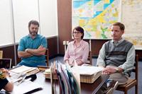 THE KINGS OF SUMMER, (aka TOY'S HOUSE), from left: Nick Offerman, Megan Mullally, Marc Evan Jackson, 2013. ph: Julie Hahn/©CBS Films