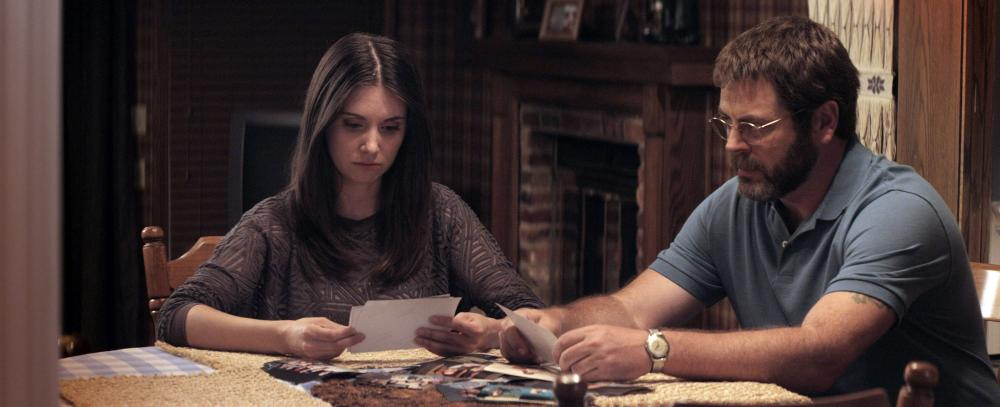 THE KINGS OF SUMMER, (aka TOY'S HOUSE), from left: Alison Brie, Nick Offerman, 2013./©CBS Films