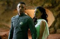 AFTER EARTH, from left: Will Smith, Sophie Okonedo, 2013. ph: Frank Masi/©Sony Pictures