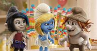 THE SMURFS 2, from left: Vexy (voice: Christina Ricci), Smurfette (voice: Katy Perry), Hackus (voice: J.B. Smoove), 2013, ©Columbia Pictures