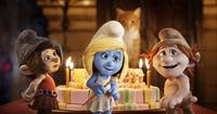 THE SMURFS 2, l-r: Vexy (voice: Christina Ricci), Smurfette (voice: Katy Perry), Hackus (voice: J.B. Smoove), 2013, ©Columbia Pictures
