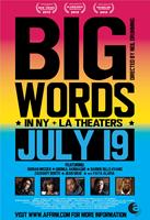 BIG WORDS, US poster art, from left: Darien Sills-Evans, Yaya Alafia, Dorian Missick, Jean Grae, Gbenga Akinnagbe, 2013. ©African-American Film Festival Releasing Movement