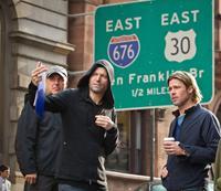 WORLD WAR Z, foreground l-r: Director/Executive Producer Marc Forster, Brad Pitt on set, 2013, ph: Jaap Buitendijk/©Paramount Pictures