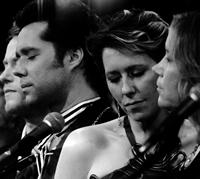SING ME THE SONGS THAT SAY I LOVE YOU: A CONCERT FOR KATE MCGARRIGLE, from left: Teddy Thompson, Rufus Wainwright, Martha Wainwright, Sloan Wainwright, 2012.