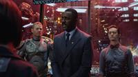 PACIFIC RIM, from left: Max Martini, Idris Elba, Clifton Collins Jr., 2013. ©Warner Bros.