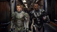 PACIFIC RIM, from left: Robert Kazinsky, Idris Elba, 2013. ©Warner Bros.