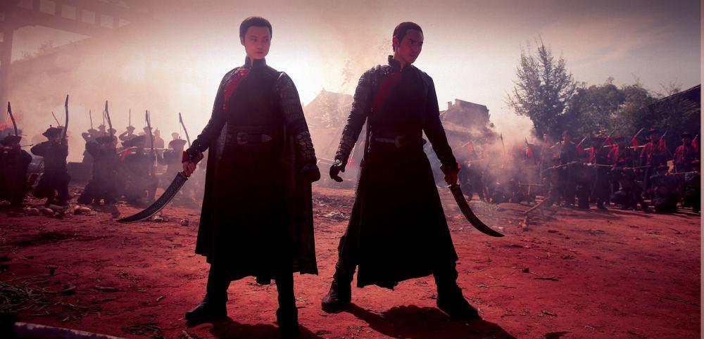 THE GUILLOTINES, (aka XUE DI ZI), from left: LI Yuchun, Ethan Juan, 2012. ©Well Go