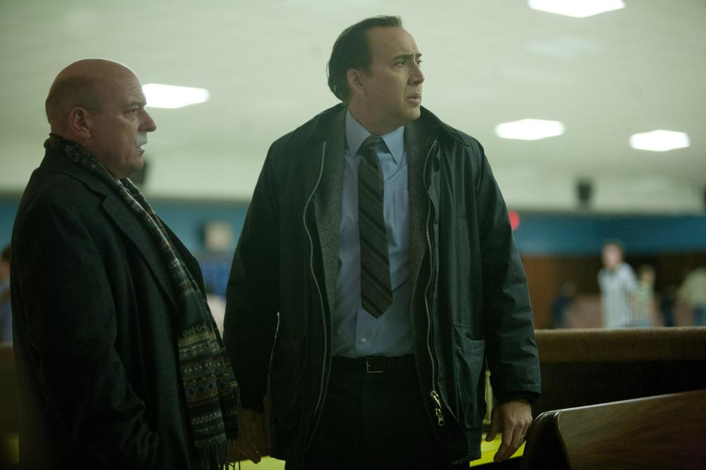 THE FROZEN GROUND, from left: Dean Norris, Nicolas Cage, 2013. ©Lionsgate