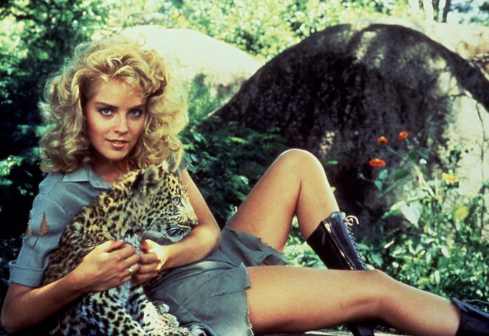 KING SOLOMON'S MINES, Sharon Stone, 1985, leopard