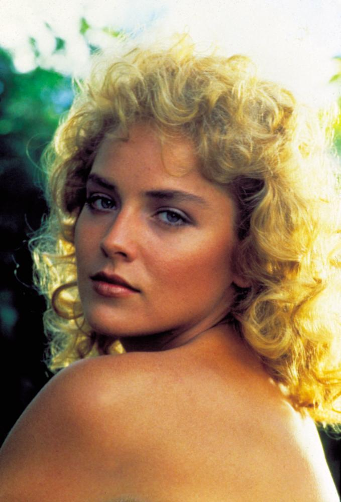 KING SOLOMON'S MINES, Sharon Stone, 1985, bare back