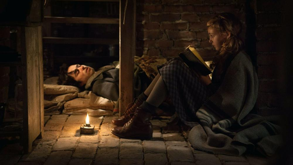 THE BOOK THIEF, from left: Ben Schnetzer, Sophie Nelisse, 2013. TM and ©copyright Fox 2000. All rights reserved.
