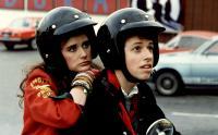 NO SMALL AFFAIR, Demi Moore, Jon Cryer, 1984, helmet
