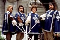 THE THREE MUSKETEERS, Kiefer Sutherland, Charlie Sheen, Chris O'Donnell, Oliver Platt, 1993, (c) Buena Vista