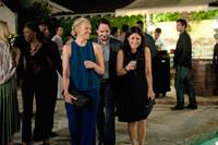 ENOUGH SAID, from left: Toni Collette, Ben Falcone, Julia Louis-Dreyfus, 2013. ph: Colleen Hayes/TM and ©Copyright Fox Searchlight. All rights reserved.