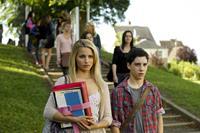 THE FAMILY, from left: Dianna Agron, John D'Leo, 2013. ph: Jessica Forde/©Relativity Media