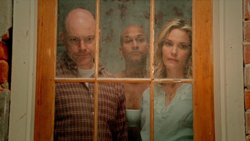 HELL BABY, from left: Rob Corddry, Keegan Michael Key, Leslie Bibb, 2013. ©Gravitas Ventures