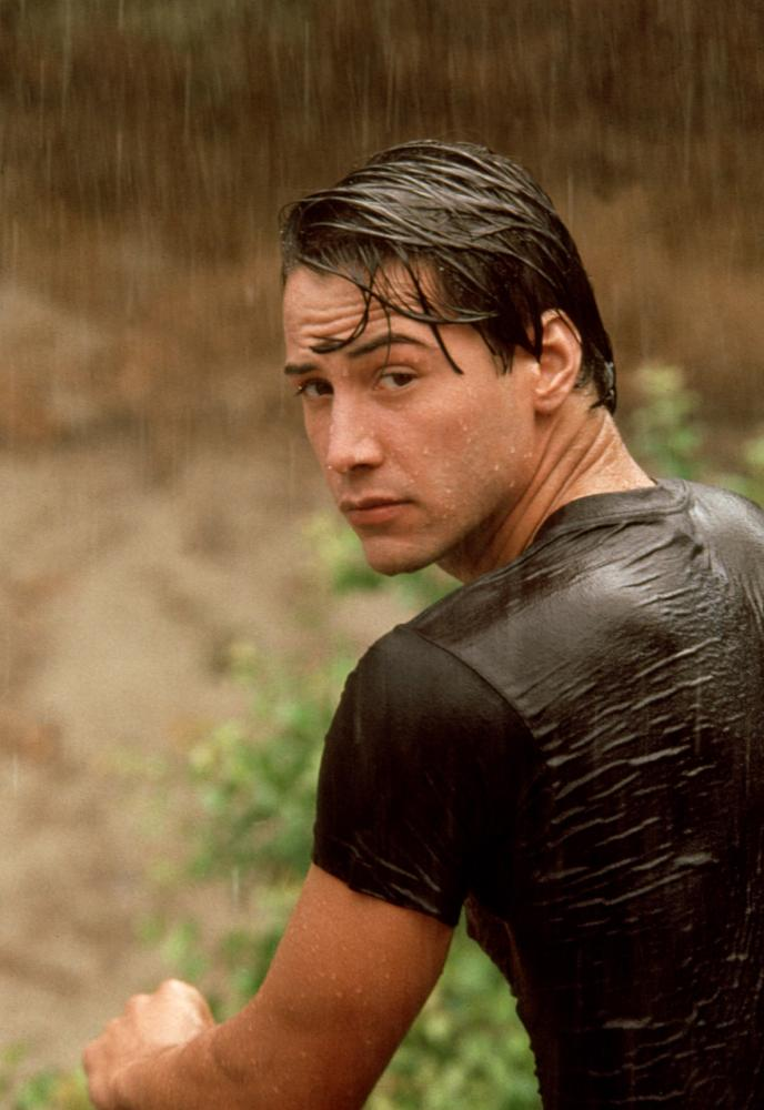 POINT BREAK, Keanu Reeves, 1991, wet. TM and Copyright (c) 20th Century Fox Film Corp. All Rights Reserved.