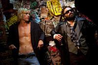 CBGB, from left: Taylor Hawkins, as Iggy Pop, Johnny Galecki, 2013./©XLrator Media