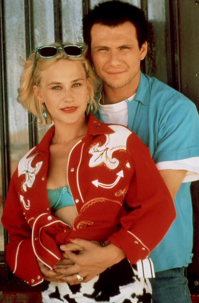 TRUE ROMANCE, Patricia Arquette, Christian Slater, 1993