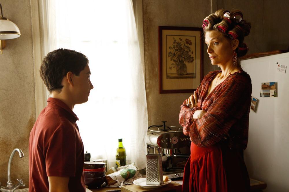 THE FAMILY, l-r: John D'Leo, Michelle Pfeiffer, 2013, ph: Jessica Forde/©Relativity Media