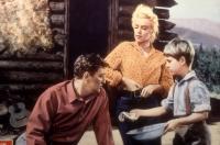 RIVER OF NO RETURN, Robert Mitchum, Marilyn Monroe, Tommy Rettig, 1954