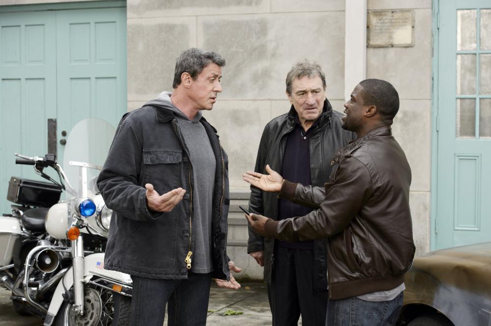 GRUDGE MATCH, from left: Sylvester Stallone, Robert De Niro, Kevin Hart, 2013. ph: Ben Rothstein/©Warner Bros.