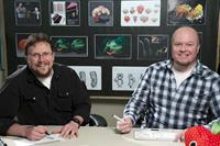 CLOUDY WITH A CHANCE OF MEATBALLS 2, l-r: directors Kris Pearn, Cody Cameron, 2013, ©Columbia Pictures