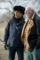 NEBRASKA, from left: director Alexander Payne, Bruce Dern, on set, 2013. ©Paramount Pictures