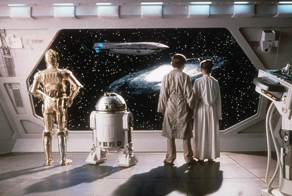 THE EMPIRE STRIKES BACK, Anthony Daniels, Kenny Baker, Mark Hamill,Carrie Fisher, 1980. ©Lucasfilm Ltd. /