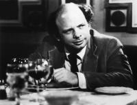 MY DINNER WITH ANDRE, Wallace Shawn, 1981, at the dinner table