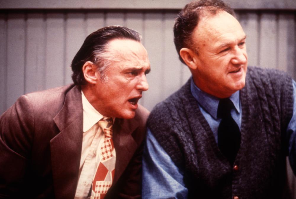 HOOSIERS, Dennis Hopper, Gene Hackman, 1986. (c) Orion Pictures.