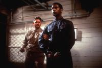 A SOLDIER'S STORY, Denzel Washington (right), 1984, prisoner in handcuffs