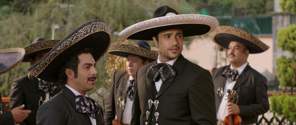 PULLING STRINGS, from left: Omar Chaparro, Jaime Camil, 2013. ©Lionsgate