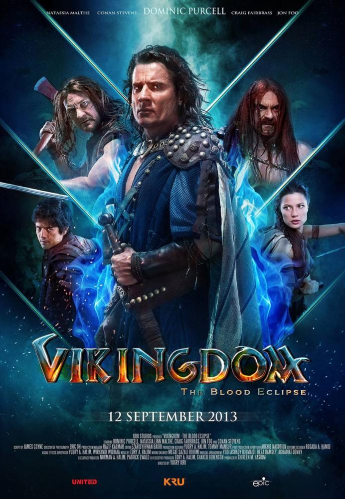 VIKINGDOM, top, from left: Conan Stevens, Dominic Purcell, Craig Fairbrass, bottom, from left: Jon Foo, Natassia Malthe, 2013. ©Epic Pictures Releasing