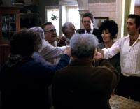 MOONSTRUCK, Vincent Gardenia, Danny Aiello, Cher, Nicolas Cage, 1987