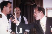 NO WAY OUT, Kevin Costner, Gene Hackman, Will Patton, 1987, threatening with a gun