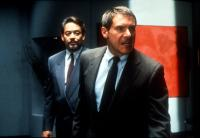 PRESUMED INNOCENT, Raul Julia, Harrison Ford, 1990