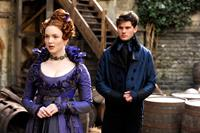 GREAT EXPECTATIONS, from left: Holliday Grainger, Jeremy Irvine, 2012. ©Main Street Films