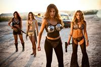 MACHETE KILLS, from left: Emmy Robbin, Elle LaMont, Sofia Vergara, Alexa Vega, 2013. ph: Rico Torres/©Open Road Films