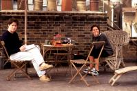 NOTTING HILL, Hugh Grant, Julia Roberts, 1999, breakfast on the roof