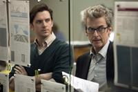 THE FIFTH ESTATE, from left: Dan Stevens, Peter Capaldi, 2013. ph: Frank Connor/©Touchstone Pictures