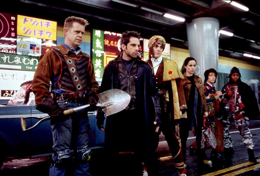 MYSTERY MEN, William H. Macy, Ben Stiller, Hank Azaria, Janeane Garofalo, Paul Reubens, Kel Mitchell, 1999