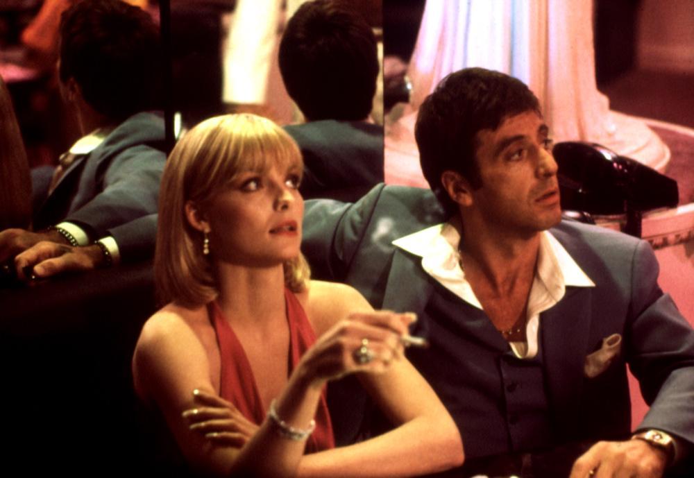 SCARFACE, Michelle Pfeiffer, Al Pacino, 1983
