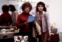 TOOTSIE, Dustin Hoffman, Geena Davis, 1982, in the dressing room